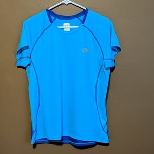 The North Face blue t-shirt
